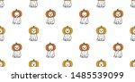 cat seamless pattern vector... | Shutterstock .eps vector #1485539099