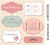 happy thanksgiving frames | Shutterstock .eps vector #148555358
