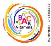 multi vitamin complex icons.... | Shutterstock . vector #1485566936