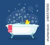 Bath Full Of Foam With Bubbles...