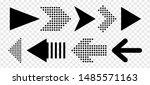 set of new style black vector... | Shutterstock .eps vector #1485571163