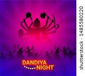 dandiya night party poster or... | Shutterstock .eps vector #1485580220