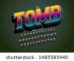vector of stylized modern font...   Shutterstock .eps vector #1485585440