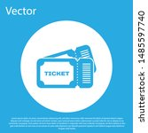 blue ticket icon isolated on... | Shutterstock .eps vector #1485597740