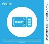 blue ticket icon isolated on... | Shutterstock .eps vector #1485597743