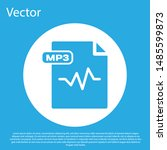 blue mp3 file document.... | Shutterstock .eps vector #1485599873