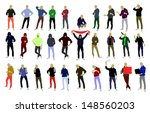 silhouette young people   young ... | Shutterstock .eps vector #148560203