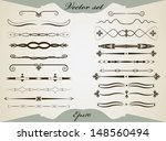 vintage dividers set. isolated... | Shutterstock .eps vector #148560494