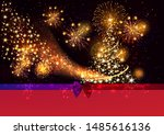 merry christmas and happy new... | Shutterstock .eps vector #1485616136