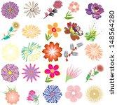 set of creative flowers | Shutterstock .eps vector #148564280