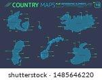 sweden  norway  denmark ... | Shutterstock .eps vector #1485646220
