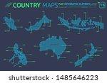 indonesia  australia  new... | Shutterstock .eps vector #1485646223