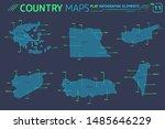 greece  turkey  cyprus  syria ... | Shutterstock .eps vector #1485646229