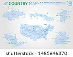 honduras  mexico  cuba  united... | Shutterstock .eps vector #1485646370