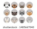 vector flat icon with cartoon... | Shutterstock .eps vector #1485667040