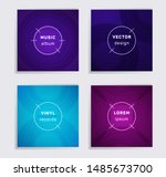 abstract plate music album... | Shutterstock .eps vector #1485673700