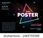 electronic music covers for... | Shutterstock .eps vector #1485745589
