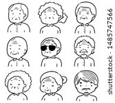 vector set of elder people... | Shutterstock .eps vector #1485747566