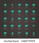 weather icons. additional part. ... | Shutterstock .eps vector #148575959