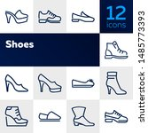 shoes line icon set. set of... | Shutterstock .eps vector #1485773393