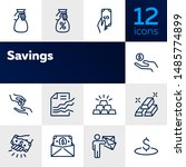 savings line icon set. deposit  ...   Shutterstock .eps vector #1485774899