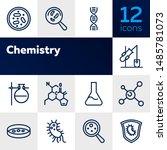chemistry line icon set. set of ... | Shutterstock .eps vector #1485781073