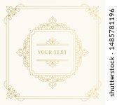 golden vintage squared frame...   Shutterstock .eps vector #1485781196