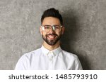portrait of handsome smiling... | Shutterstock . vector #1485793910