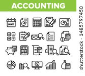 collection accounting elements... | Shutterstock .eps vector #1485797450