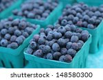 Blueberries Being Sold In Box...