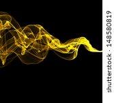 Abstract Yellow Smoke Waves