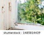 pieces broken glass in window... | Shutterstock . vector #1485814439