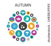 autumn infographic circle...