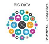 big data infographic circle...