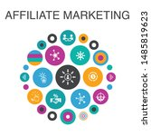 affiliate marketing infographic ... | Shutterstock .eps vector #1485819623