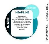 headline sign. headliner speech ... | Shutterstock .eps vector #1485821819