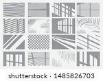 set of transparent shadow... | Shutterstock .eps vector #1485826703
