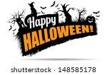 happy halloween title. jpg   Shutterstock . vector #148585178