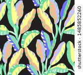 seamless floral pattern in... | Shutterstock .eps vector #1485852260