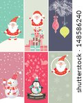 christmas and new year's banners | Shutterstock .eps vector #148586240