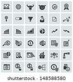 finance and analysis icons...