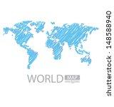 sketch. world map vector
