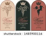 vector set of three labels for... | Shutterstock .eps vector #1485900116