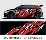 rally car decal graphic wrap... | Shutterstock .eps vector #1485930233