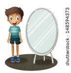 illustration of a boy standing... | Shutterstock .eps vector #148594373
