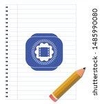film icon pen draw. blue ink....