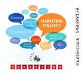 marketing strategy related... | Shutterstock .eps vector #148599176
