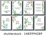 invitation floral templates ... | Shutterstock .eps vector #1485994289