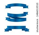 blue ribbons set.vector ribbon... | Shutterstock .eps vector #1486013510