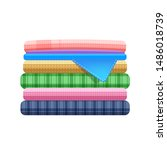 stack of clothing isolated on... | Shutterstock .eps vector #1486018739